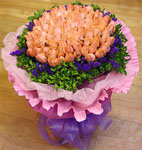 99 pink rose bouquet